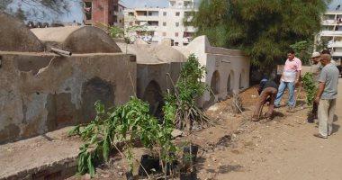 بالصور.. رئيس مدينة الحامول تشارك بحملة نظافة وتشجير وإضاءت المقابر بـ3 قرى