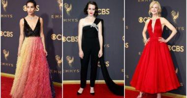 417761fb58726 أجمل 5 فساتين على السجادة الحمراء فى حفل توزيع جوائز Emmy Awards ...