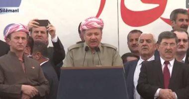 مسعود البارزانى: إقليم كردستان لن يصبح مقرا للإرهاب أبدا