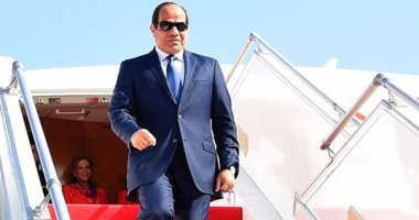 الرئيس السيسى يصل مطار القاهرة الدولى - ارشيفية