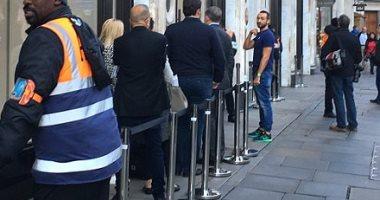 إقبال ضعيف على شراء آيفون 8 و8 بلس بمتجر آبل فى لندن -