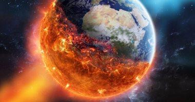 صورة تخيلية لاشتعال الأرض فى نهاية العالم