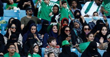 المرأة السعودية داخل الاستاد