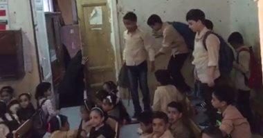 أهالى منشية البكارى بالهرم يشكون من كثافة أعداد التلاميذ بالمرحلة الابتدائية