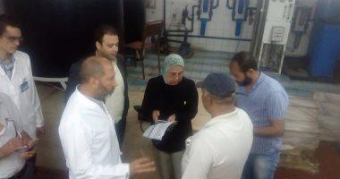 بالصور الأجهزة الأمنية تشارك لجان  الصحة في التفتيش على مستشفى سوهاج العام