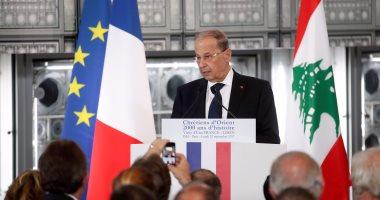 الرئيس اللبنانى: بحثت مع ماكرون الوضع فى الشرق الاوسط وسبل احلال السلام
