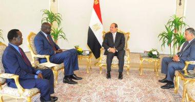 السيسى يتسلم رسالة من رئيس جنوب السودان ويؤكد مساندة مصر لاستقرار جوبا