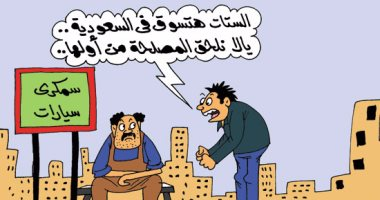 """السمكرية يتوقعون عقود عمل بالسعودية قريبا.. فى كاريكاتير """"اليوم السابع"""""""