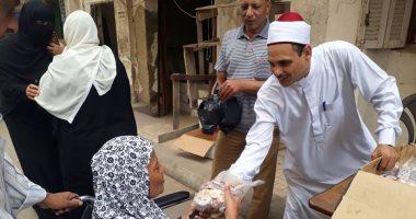 """وزارة الأوقاف توزع 5 آلاف كيلو لحوم """"صكوك أضاحى"""" بمحافظة الجيزة"""