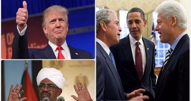 بعد 20 عامًا من العقوبات الاقتصادية المفروضة على السودان.. دونالد ترامب يرفع الحظر عن الخرطوم.. الرئيس كلينتون فرضها منذ عام 1997..  بوش  زادها تعقيدا فى 2006..  أوباما  جددها 2011 وخففها قبل رحيله بأيام  -