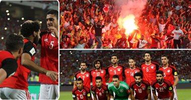 بعد 28 سنة غياب عن المونديال لاعبو منتخب مصر يحتفلون بالتأهل لكأس العالم روسيا 2018