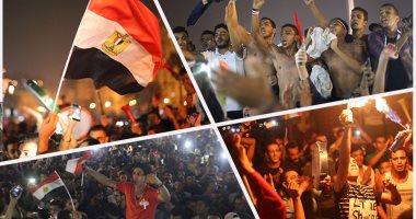 الفرحة حلوة يا ولاد.. المصريون بحتفلون بالمنتخب فى التحرير