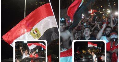 """""""جامعة الدول"""" يجمع المصريين احتفالا بصعود المنتخب لكأس العالم"""