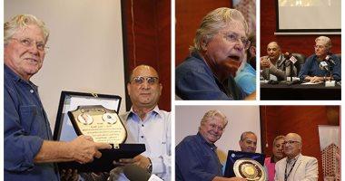 نجوم السينما والمسرح فى ندوة تكريم حسين فهمى بمهرجان الإسكندرية السينمائى