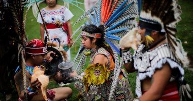 """""""pow-wow"""" احتفالية """"الشعوب الأصلية"""" بيومهم العالمى فى نيويورك"""