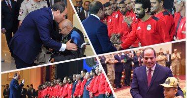 السيسي يكرم المنتخب الوطنى فى الندوة التثقيفية للقوات المسلحة