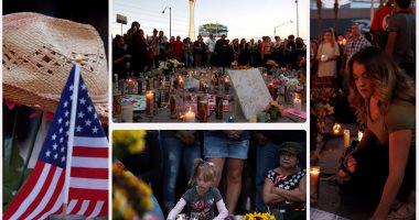 """وقفة بالشموع لإحياء ذكرى مرور الأسبوع الأول على حادث """"لاس فيجاس"""""""