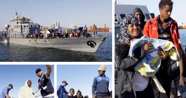 إنقاذ 90 مهاجرًا غير شرعى بينهم نساء وأطفال قرب صبراتة الليبية