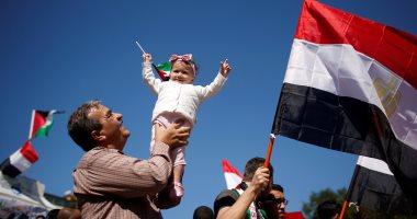 بالصور.. الأعلام المصرية تزين سماء غزة بعد نجاح المصالحة الفلسطينية