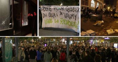 اندلاع أعمال شغب فى باريس بعد حبس متظاهرين حرقوا سيارة شرطة