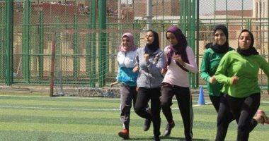 بالصور.. اليوم السابع داخل أول كلية تربية رياضية للبنات بجامعة الأزهر