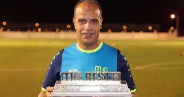 """محمود جابر يتسلم جائزة """"مدرب الشهر"""" فى الدورى القطرى"""