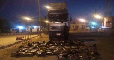 ضبط سيارة نقل بنفق الشهيد أحمد حمدى بالسويس بداخلها 630 كيلو بانجو