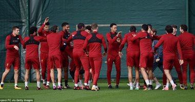 """بالصور.. """"ثبت صنم"""" فى تدريبات ليفربول قبل مواجهة مانشستر يونايتد"""