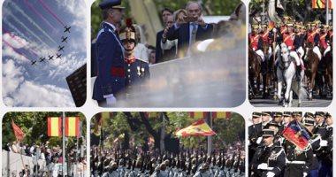 ملك إسبانيا يحضر عرض عسكرى فى احتفالات العيد الوطنى