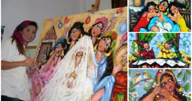 من قلب الغربة فن حواديث حوارى مصر الشعبية اتولدت على لوحات ريهام