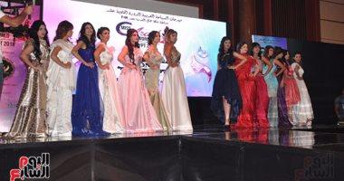 بالصور.. متسابقات ملكة جمال العرب يقدمن عرض أزياء من توقيع محمد نور