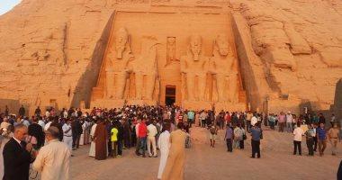 استعدادات السياحة والآثار لاحتفالية تعامد الشمس على وجه رمسيس فى أبو سمبل