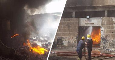 الحماية المدنية تسيطر على حريق هائل بمصنع مكرونة بالمنوفية