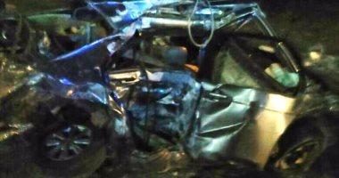 مصرع ربة منزل وإصابة 3 من أسرة واحدة فى حادث تصادم  بمركز الفشن جنوب بنى سويف