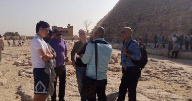 أعضاء صندوق النقد الدولى فى زيارة تاريخية للأهرامات