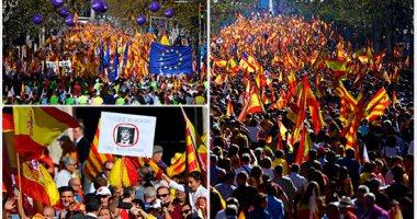 مليونية رفض الانفصال تطالب بسجن رئيس حكومة كتالونيا المقال