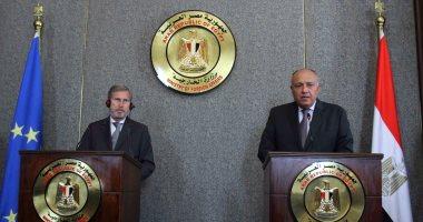 سامح شكرى: مصر تكثف جهودها لمواجهة الهجرة غير الشرعية وحل أزمة ليبيا سياسيا