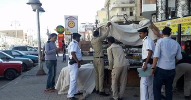 ضبط 40 حالة إشغال مختلفة فى حملة لشرطة المرافق بالغردقة