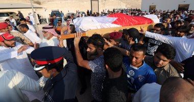 بالصور.. تشييع جثمان شهيد الشرطة فى حادث المنامة الإرهابى