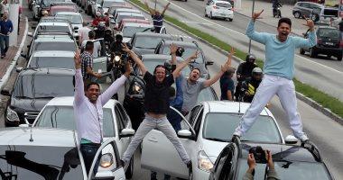 بالصور.. سائقو أوبر يحتجون على تشريع جديد يهدد خطط الشركة بالبرازيل