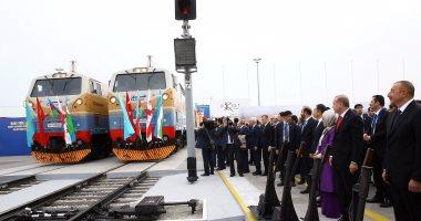 بالصور.. افتتاح أقصر خط للسكك الحديد بين آسيا وأوروبا فى أذربيجان