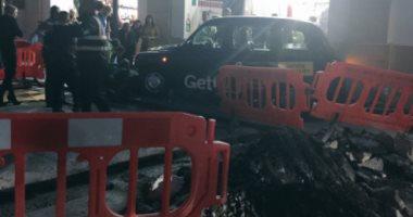 بالصور.. إصابات وسط  مدينة ساوثهامبتون البريطانية بعد خروج سيارة عن الطريق