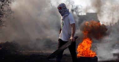 اندلاع مواجهات عنيفة بين فلسطينيين والقوات الإسرائيلية فى رام الله