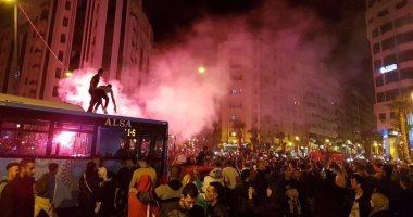 فيديو وصور ..احتفالات عارمة فى شوارع المغرب وتونس بعد التأهل لكأس العالم