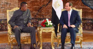 السيسي: ننسق مع زامبيا فى مختلف القضايا لتعزيز السلام داخل القارة الإفريقية (صور)