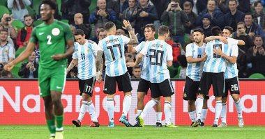 شاهد.. الأرجنتين تتقدم على نيجيريا 2-1 فى الشوط الأول