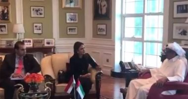فيديو.. خلف الحبتور يناقش مع سحر نصر الفرص الاستثمارية لمجموعته فى مصر