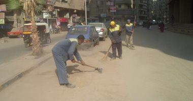 هيئة نظافة الجيزة تنظم حملات لرفع كفاءة شوارع حى الدقى