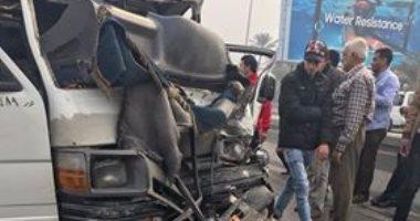 مصرع 4 وإصابة 5 آخرين فى حادث تصادم سيارتين بطريق الإسكندرية الصحراوى