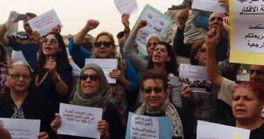 صور.. تظاهر السيدات فى العراق ضد قانون زواج القاصرات